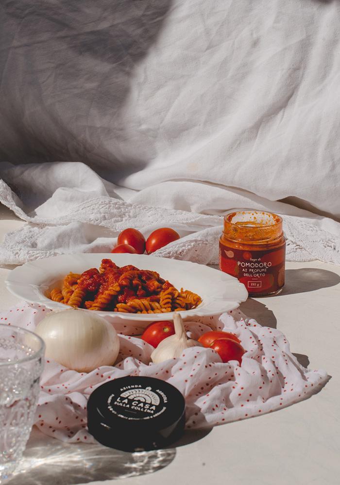 Tomato sauce packaging design DryStudio