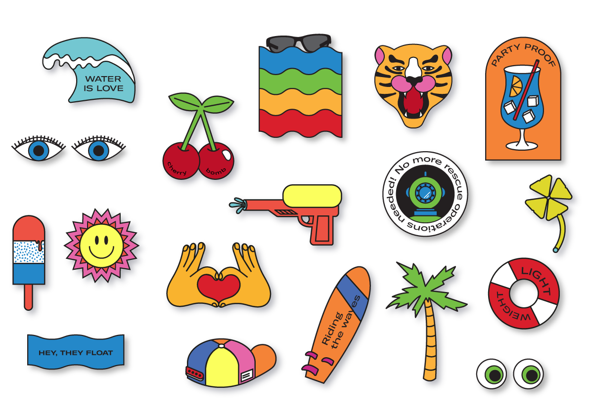 Illustration advertising campaign Floating Polaroid Eyewear - Dry Studio
