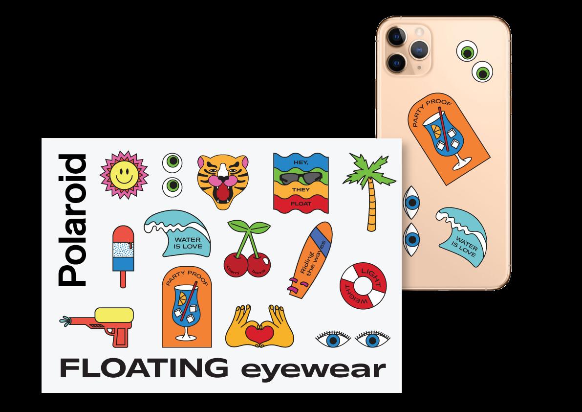 Merchandising ADV Campaign Floating Polaroid Eyewear - Dry Studio
