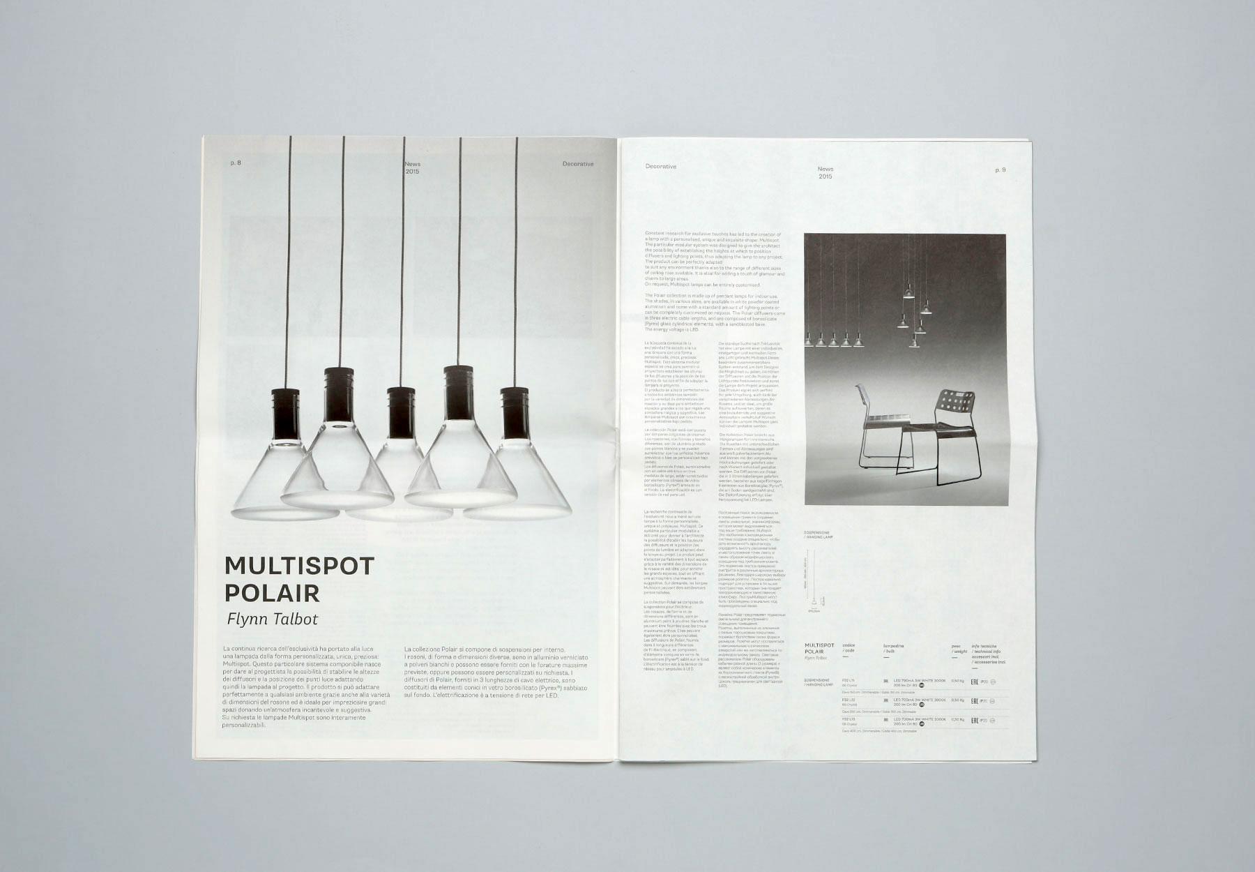 Progettazione Catalogo Aziendale e prodotto Fabbian Dry Studio
