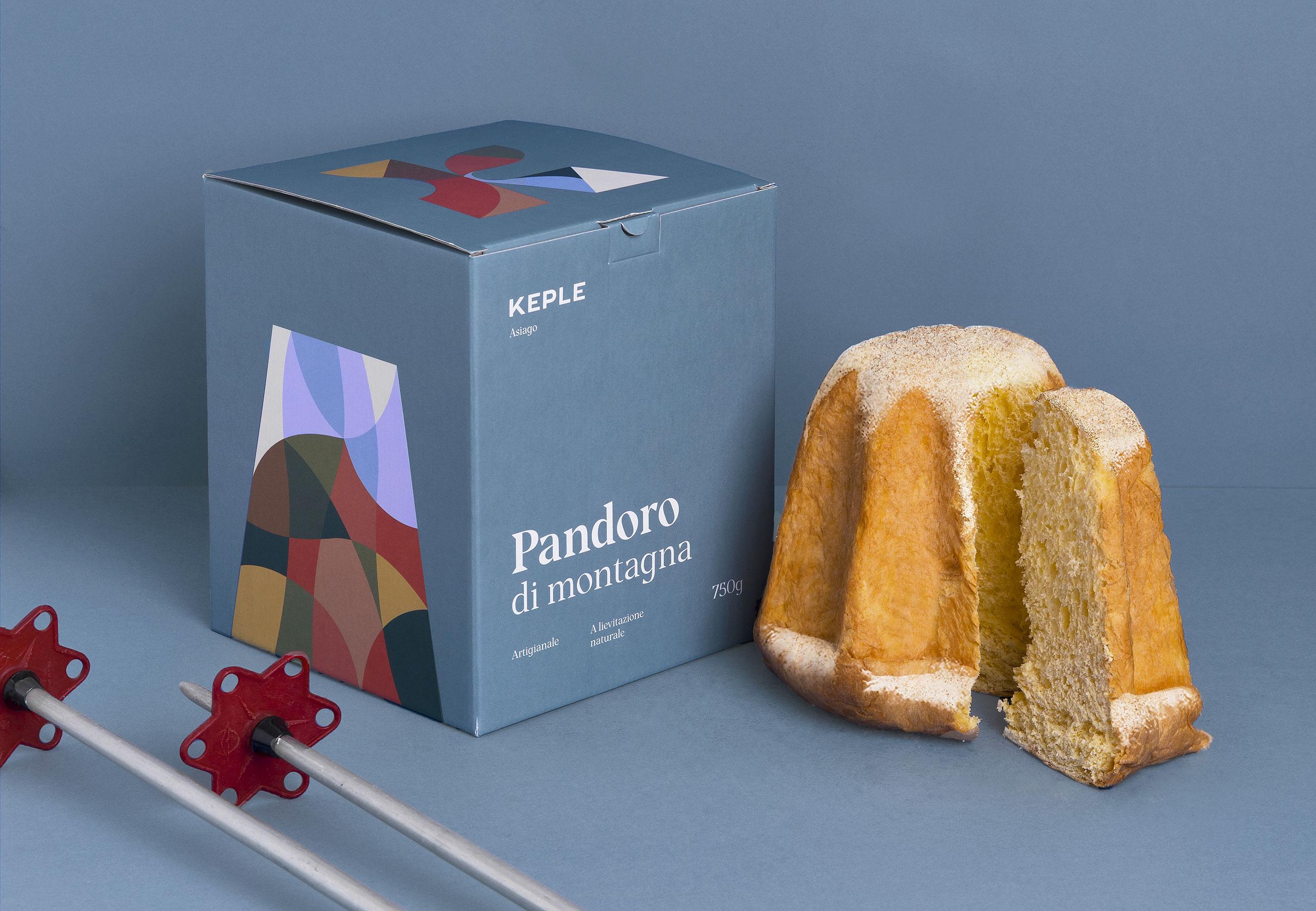 Progettazione Packaging pandoro Keple-Drystudio