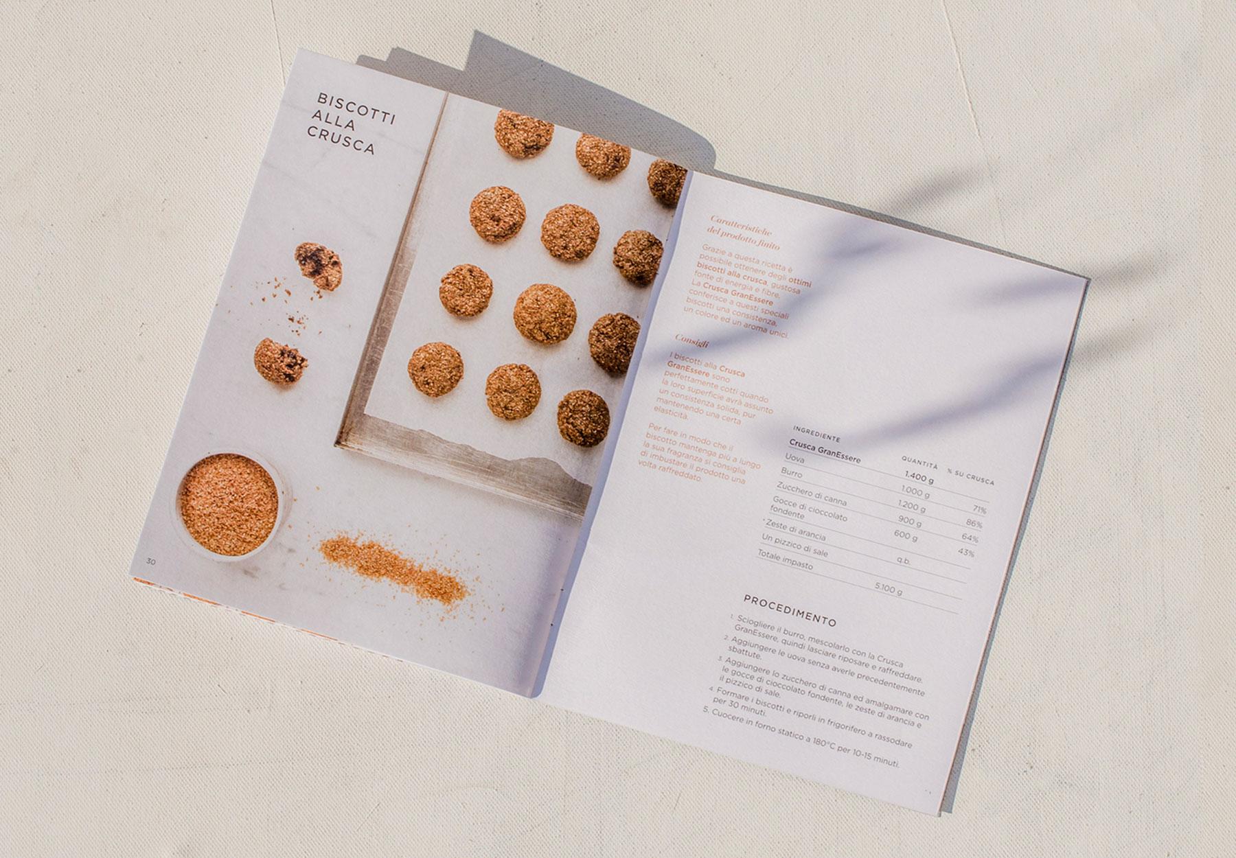Progettazione brochure Ricettario granessere Mulino Padano - DryStudio