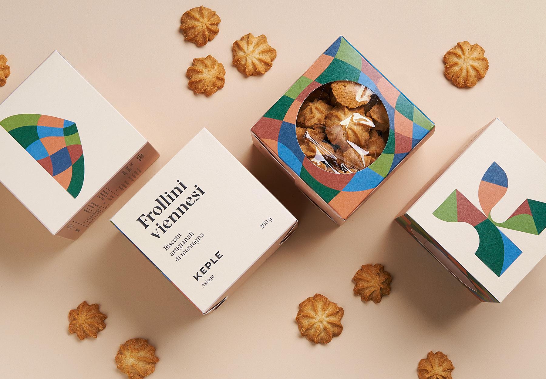 Progettazione packaging biscotti Keple Drystudio