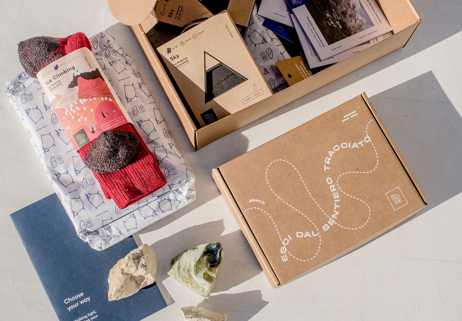 Progettazione packaging linea prodotto Elbec